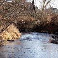 taką zimę znalazłam u siebie ... :))) #rzeka #Opava #zima #woda #Chomiąża