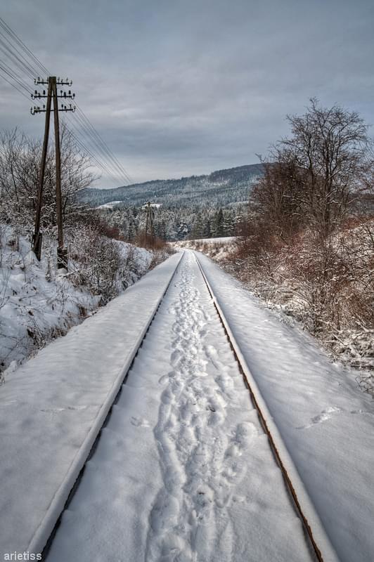 Zimowe tory... #arietiss #HDR #kolej #krajobraz #zima